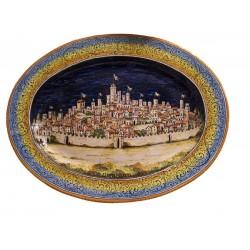 XIV° secolo vassoio ovale