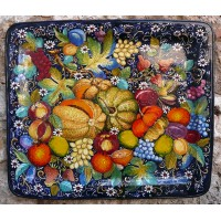Vassoio gigante blu con frutta